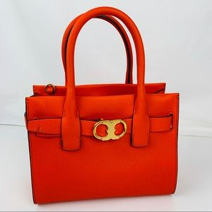 New Tory Burch Gemini Link Leather Small Tote